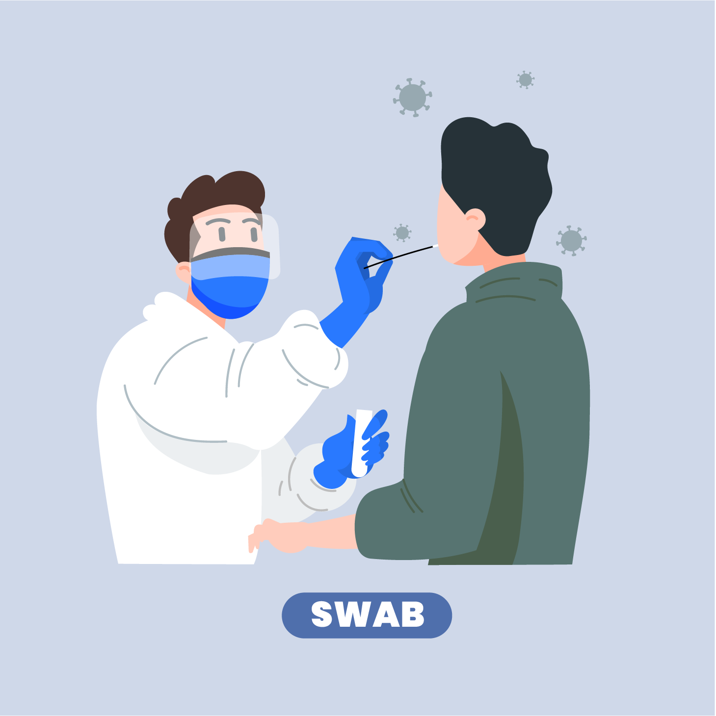nasal swab collection for covid-19 testing